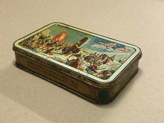 Antigua caja metálica de conservas El Progreso SA