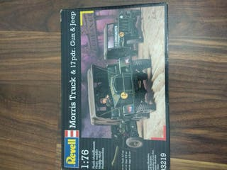 Maqueta camion Morrys y Jeep Revell 1/76