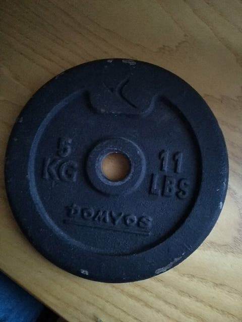 Disco 5 KG para entrenar en casa