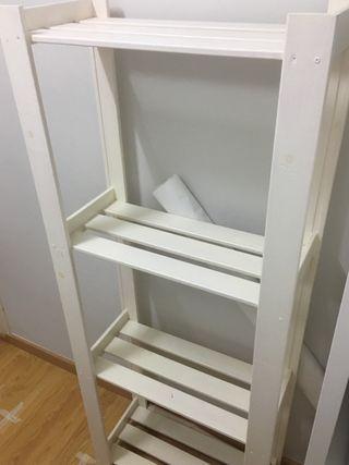 Estantería blanca madera