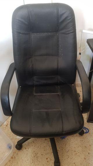 silla de piel