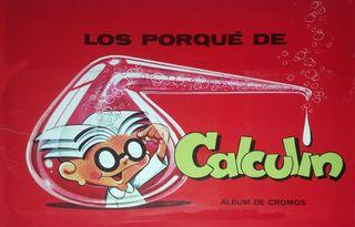 ALBUM CROMOS FACSIMIL LOS PORQUE DE CALCULIN