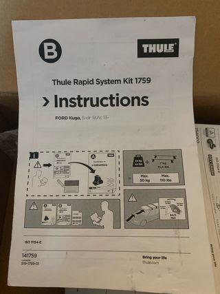 Thule Rapid System Kit 1759 Ford Kuga