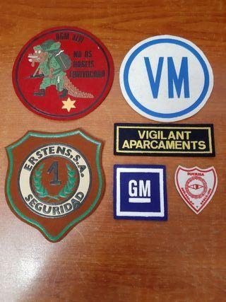 6 Emblemas Vigilante de Seguridad