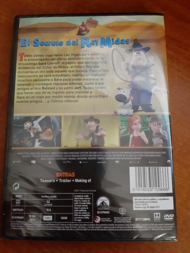 DVD Tadeo Jones 2, (Art. Nuevo y Precintado)