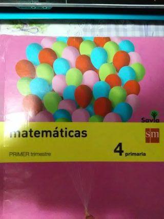Matemáticas Sm 4 de Primaria.