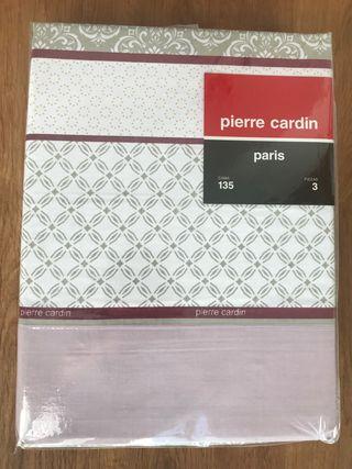 Juego de sabanas Pierre Cardin nuevo. Cama 135cm