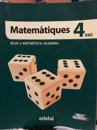 Libros de matematicas 4to de la eso