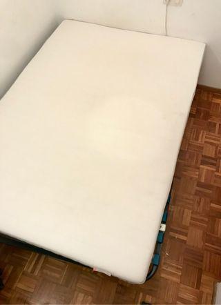 CAMA DOBLE, colchón + estructura