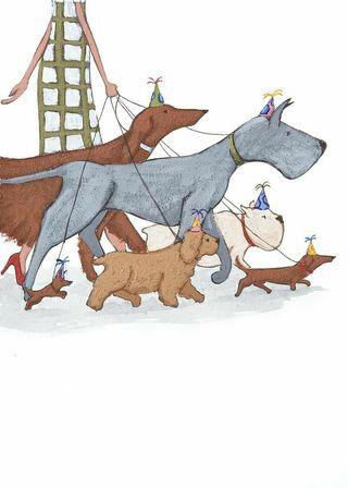 Se pasean perros en Terrassa
