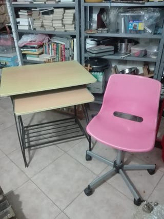 mesa ordenador y silla giratoria