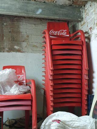 sillas cocacola