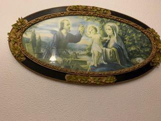 Estampa antigua enmarcada en cuadro antiguo