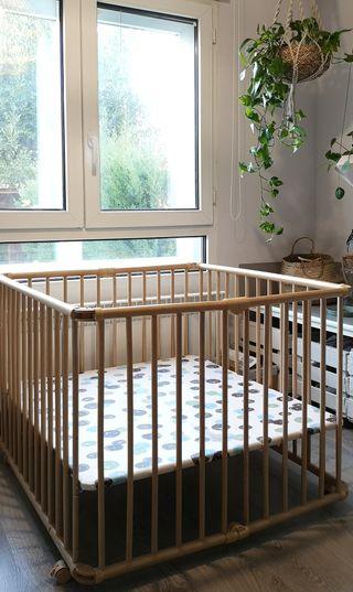 Parque bebé madera
