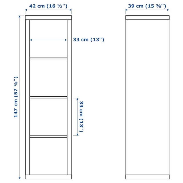 Estanteria Ikea kallax madera