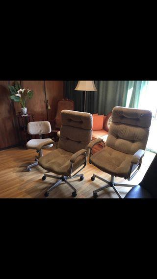 Sillones y sillas de oficina con ruedas