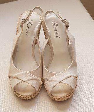Sandalias de cuña blanco n 36