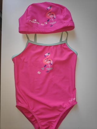 Bañador + gorro piscina niña 3 años