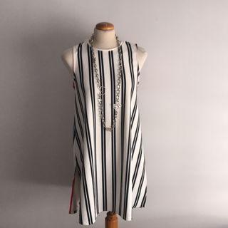 Práctico vestido de rayas estilo túnica