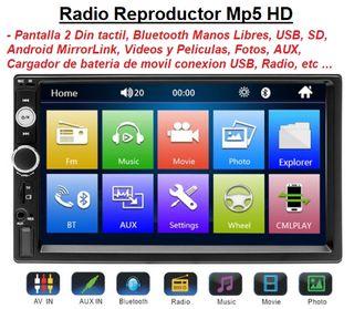 Radio Pantalla Táctil Bluetooth. Nueva