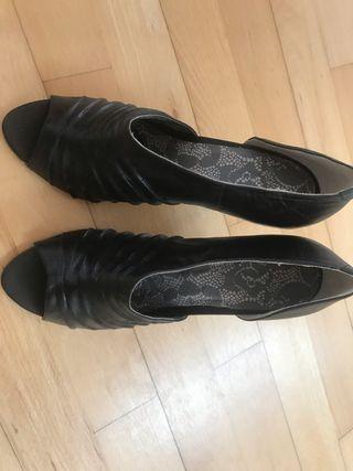 Zapatos de piel mujer negros talla 41