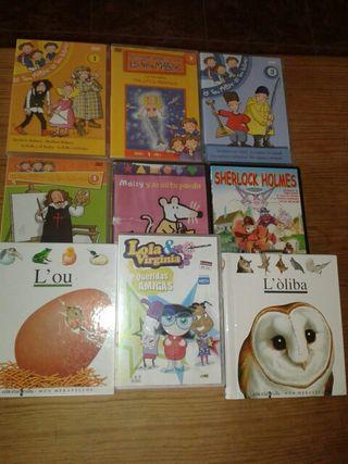 películas dvd y libros infantiles