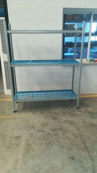 Estantería cámara frigorífica de aluminio y PVC