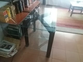 mesa cristal televisor
