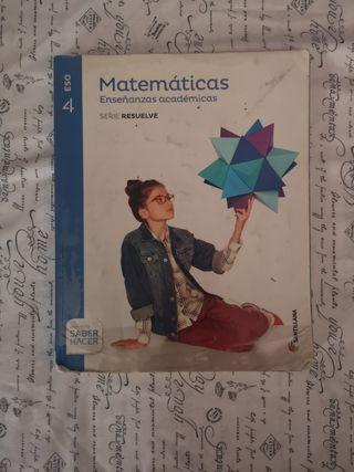 libro de matemáticas académicas 4°eso