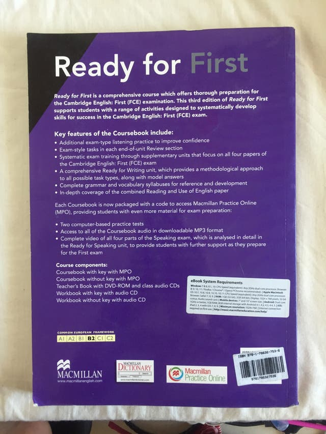 "Libro ""Ready for First"" Inglés"