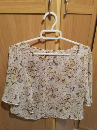 blusa estampado flores nueva