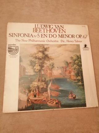 VINILO BEETHOVEN. SINFONIA N°5 EN DO MENOR OP. 67.