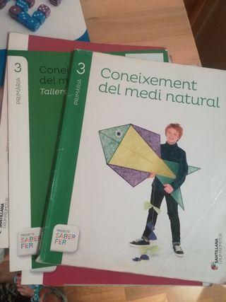 libro de texto Coneixement medi natural 3 Santilla