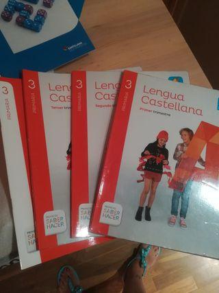 libro de texto Lengua castellana 3 Santillana