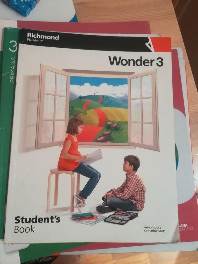 libro de texto Inglés Wonder 3