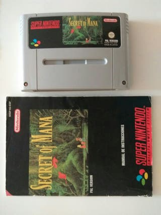 secret of mana + instrucciones de supernintendo