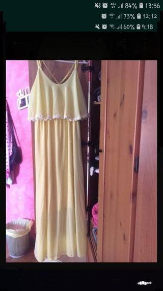 vestido amarillo talla l
