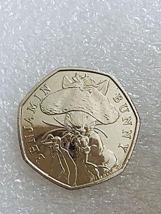 50p coin Benjamin bunny 2017.