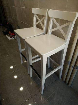 Sillas altas madera maciza de Ikea