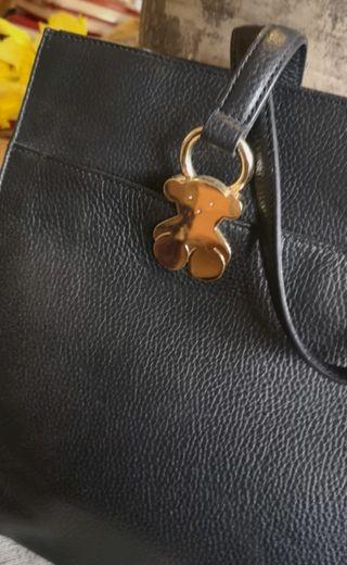 Tous black leather handbag