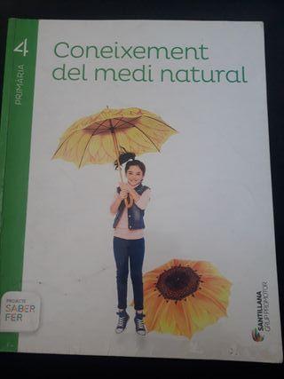 Libro de texto 4 primaria Coneixement medi natural