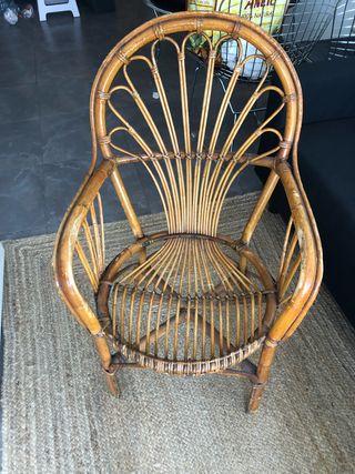 Sillón/silla mimbre