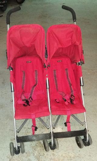 silla de paseo gemelar maclaren