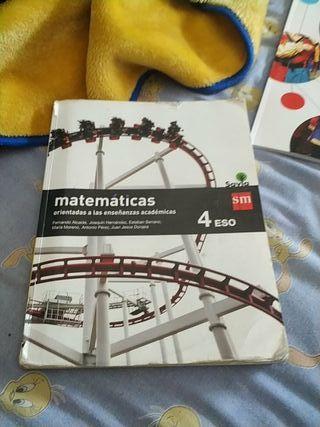 libro de matemáticas 4 de la eso