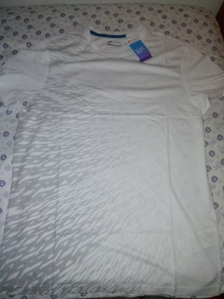 camiseta loto blanca
