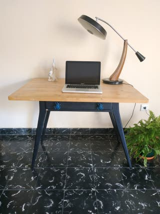 mesa tocinera vintage restaurada
