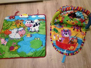 Gimnasio parque y alfombra juegos bebé