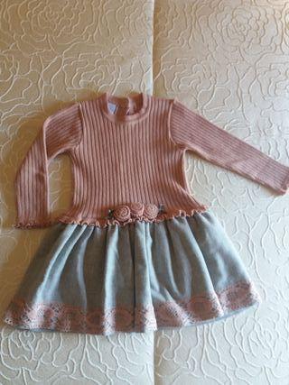 Vestido niña de punto, de ORIOL