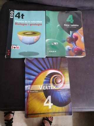 libros 4 de e.s.o