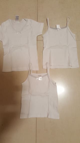 3 camisetas interiores de 2 años